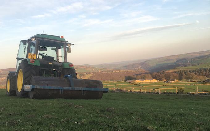High gate farm with Rolls/presses at Blackshaw Head