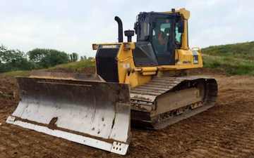 Ford and son ltd with Bulldozer at Partney