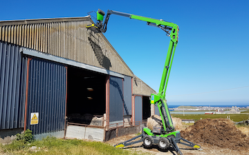 Ewen j fraser with Telehandler at United Kingdom