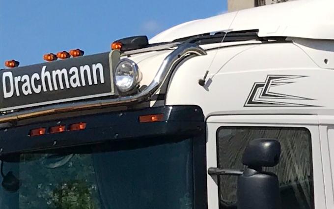 Drachmann  med Lastbil ved Fredericia