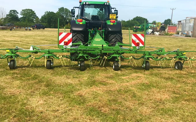 Edwards agricultural services  with Mower at Chorley