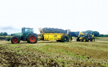 Stud farm contracting  with Manure/waste spreader at United Kingdom