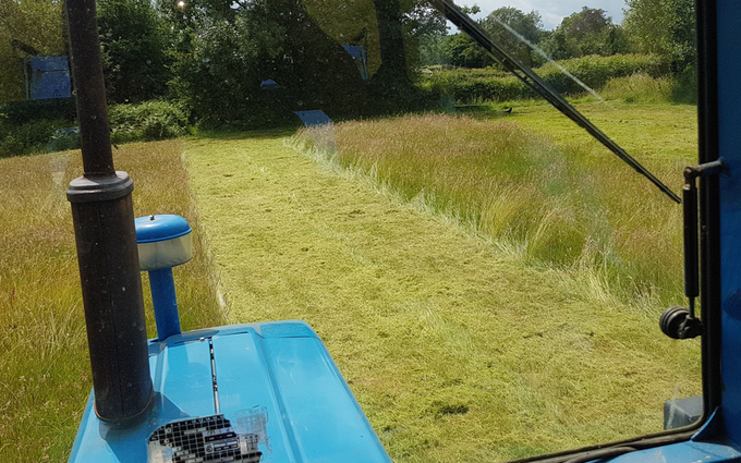 Chris thomas plant and agricultural services with Mower at Sandhurst