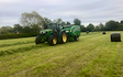 Rob hayton agricultural services with Baler wrapper combination at United Kingdom