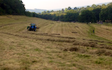 In the english manor with Small square baler at Coldharbour Lane