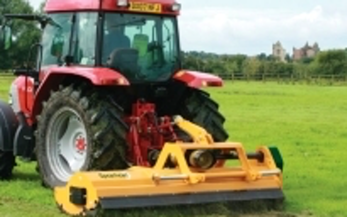 J walker  with Verge/flail Mower at United Kingdom
