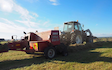 Rtb agri ltd with Small square baler at Whakarongo