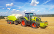 A&s eggleston with Large square baler at United Kingdom