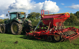 Manford farm contractors  with Drill at Oswestry