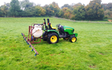 Chris stokes with Tractor-mounted sprayer at Stansfield