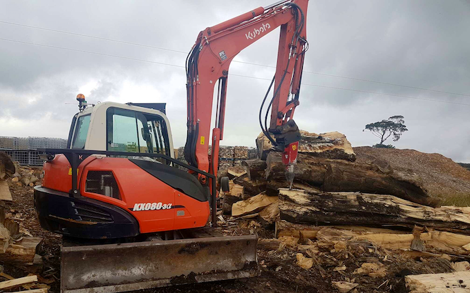 A binns & co with Excavator at United Kingdom