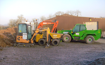 Mervyn crean building & joinery with Telehandler at Aghadowey