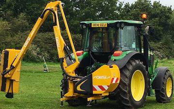 Tfl estate maintenance  with Hedge cutter at United Kingdom