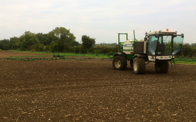 James knight farms with Self-propelled sprayer at United Kingdom