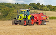 K h contracting  with Large square baler at Streatley