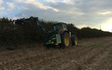 Girsby farm services ltd with Hedge cutter at Girsby Lane