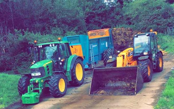 Naland ltd  with Manure/waste spreader at Portbury