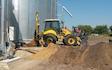 Hjortlund landbrug & maskinstation med Rendegraver ved Grindsted