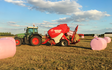 Grassland farm services with Baler wrapper combination at Greenland Lane