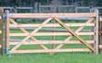 M j brandrick fencing  with Fencing at Abbots Bromley