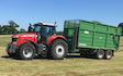 C g lucas & sons with Silage/grain trailer at Cowbridge