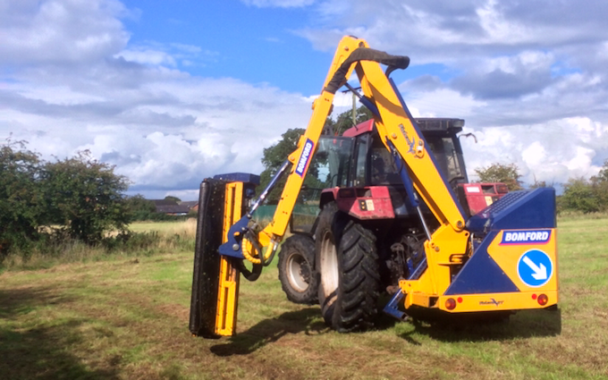 Bj contracting  with Hedge cutter at Alvechurch