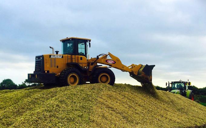 Kalin contracting ltd with Wheel loader at Manaia
