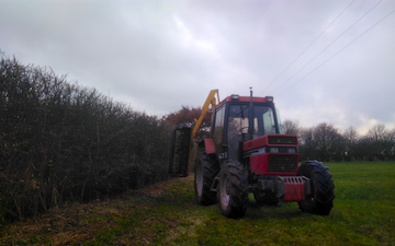 Hadfieldsmith @ sons with Hedge cutter at United Kingdom