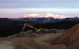 Geotech ltd with Excavator at New Zealand