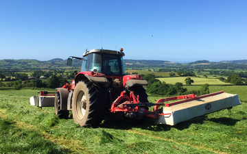Gj agri ltd with Mower at United Kingdom