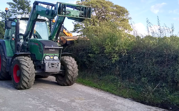 Barnsfold hire with Hedge cutter at Marple