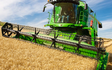 Horn agricultural with Combine harvester at United Kingdom