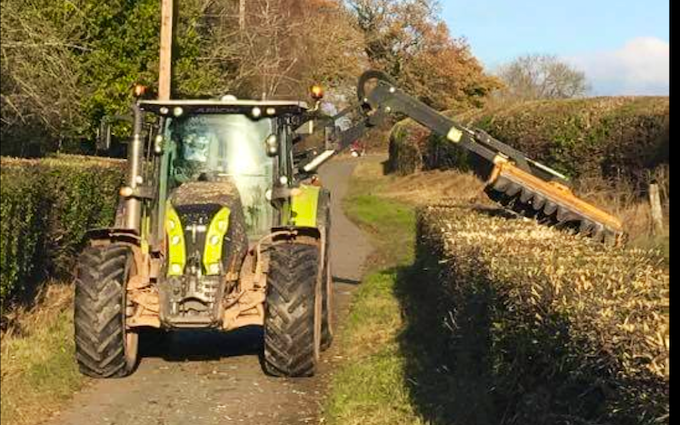 M crump & son with Hedge cutter at Worcester