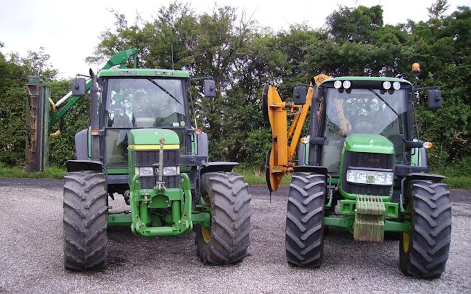 Kærsminde landbrug og maskinstation med Hegnsklipper ved Assens