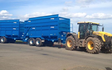 J. steel contracting  with Silage/grain trailer at Cauldhame Farm Road