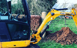 Mh services & hire  with Mini digger at Lyng