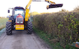 A.j.turney contracting with Hedge cutter at Bletchley