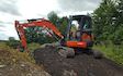Sw machinery hire ltd with Excavator at Lacock, Chippenham