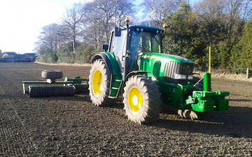 A & sj charlesworth farmers and contractors with Rolls/presses at Loxley