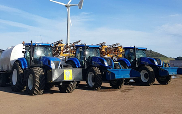 Leslie farm services ltd  with Trailed sprayer at United Kingdom