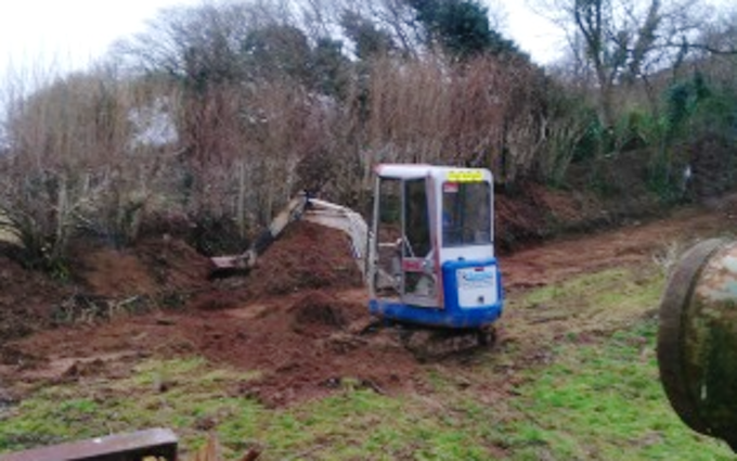 R.sanders plant hire  with Excavator at United Kingdom