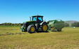 Chapman agriculture ltd  with Round baler at Cust