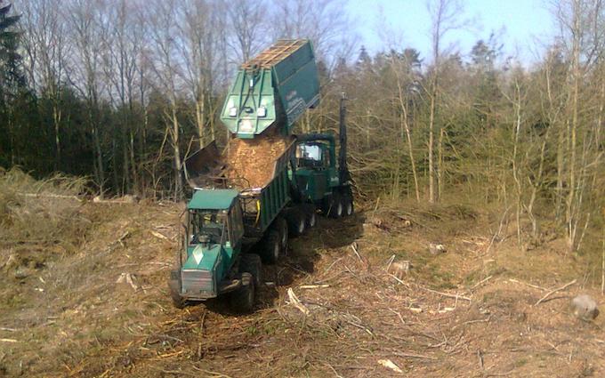 Grenknuserens skovservice med Flishugger ved Hobro