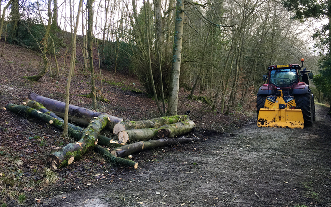 Askew forestry with Forestry winch at Lawkland