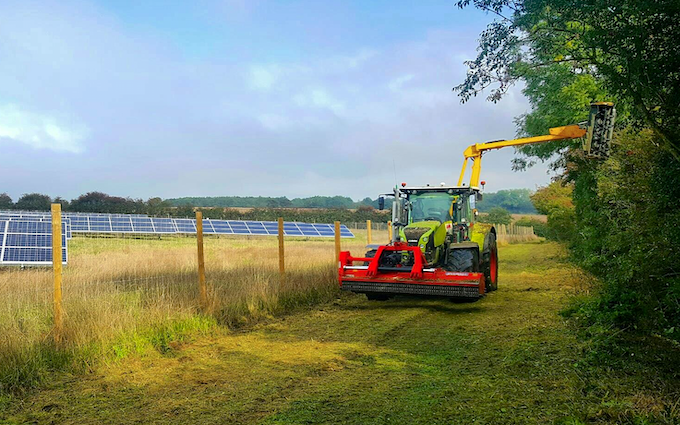A&s eggleston with Verge/flail Mower at United Kingdom