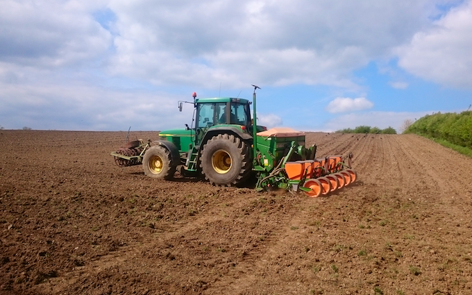 C. a. m hurst & sons with Precision drill at Fleckney