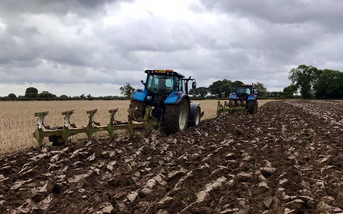 Cowton farming company  with Plough at North Cowton