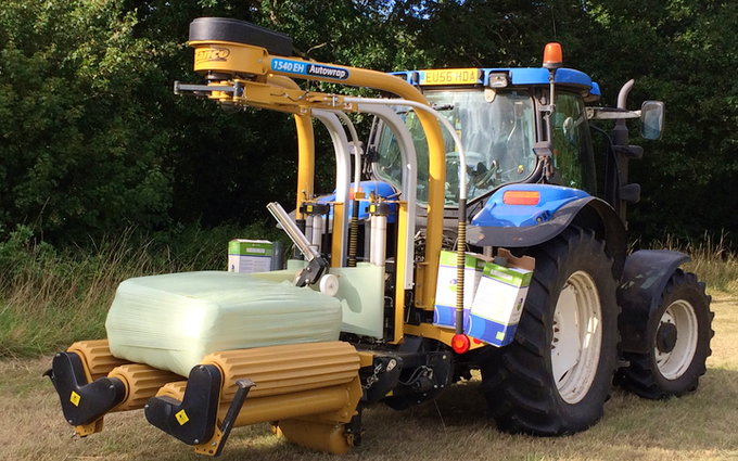 Greencrop forage & contracting with Wrapper at Russet Way