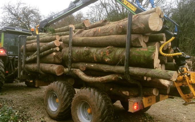 Ridleaves limited with Forwarder at Berwick Saint James