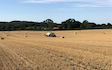 J.tams contracting with Large square baler at Talke Pits